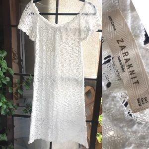 NWT ZARA KNIT white cotton dress, new with tags